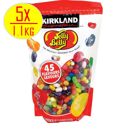 5 x Kirkland Signature Jelly Belly Original Gourmet Jelly Beans 1.1kg