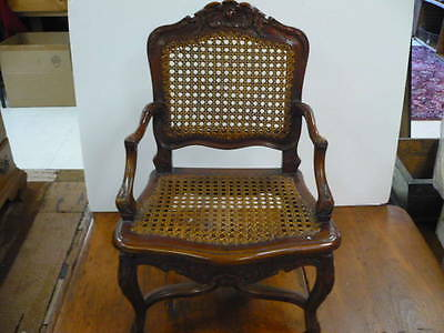 Antique Carved Wood Miniature Toy Childs Chair - Signed