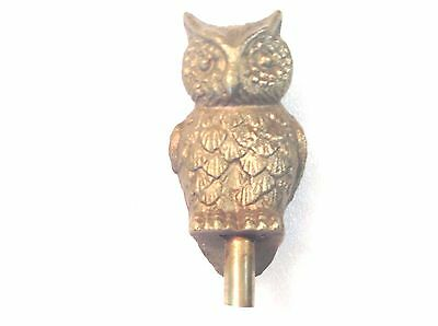 Vintage Solid Brass Owl Finial Topper Fence Post Figurine Rat Rod Mascot