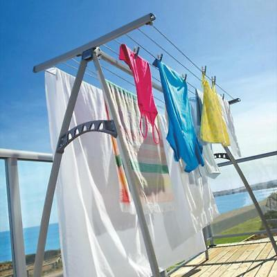 NEW Hills Portable 170 Clothesline 17m Clothes Line Foldable Airer Drying Rack