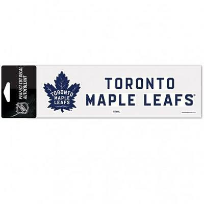 "Toronto Maple Leafs 3""x10"" Color Auto Decal [NEW] NHL Car Truck Emblem Sticker"