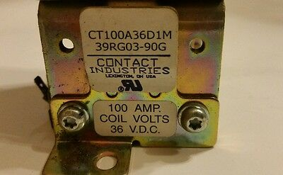 Lot of-4 Contact Industries CT100A36D1M 100AMP 36 VDC Contractors  FREE SHIPPING