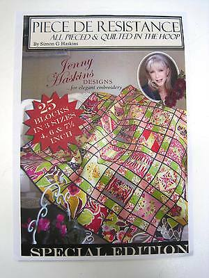 Sewing Machine Embroidery CD - Piece De Resistance by Jenny Haskins designs