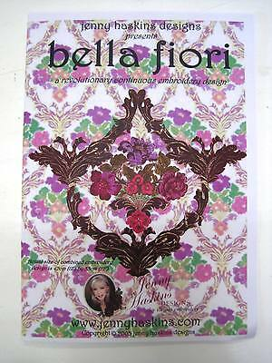 Sewing Machine Embroidery CD - Bella Fiori by Jenny Haskins designs