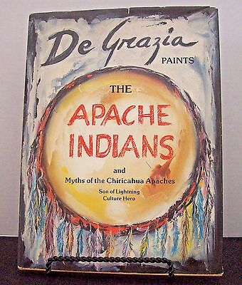 De Grazia Paints The Apache Indians & Myths of The Chiricahua Apaches - SIGNED