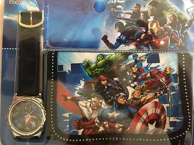 --Kids Watch Wallet Set Avengers Boys Girls Aussie Seller Children