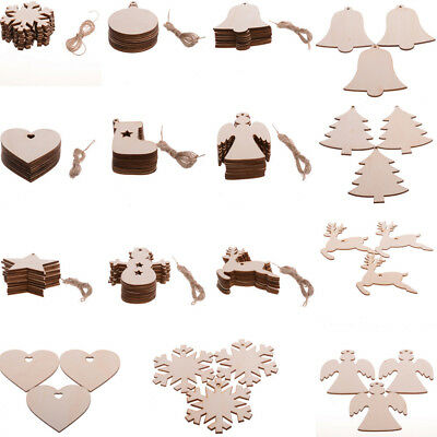 Blank Wooden Craft Shapes Family Wedding Party Ornament Hanging MDF Decoration