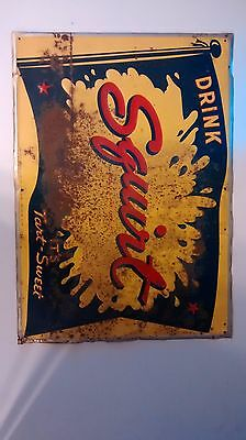 1940's metal squirt sign