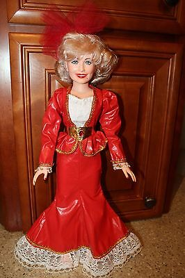 Eegee Dolly Parton Doll 18 Inch 1984 With Red Dress White Shoes Vintage Nice!