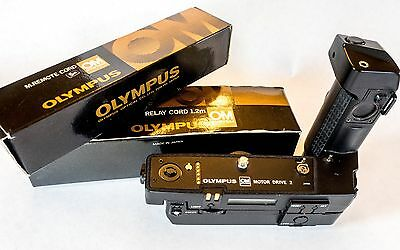 Complete Olympus Motor Drive 2 outfit including Control Pack 1 and more