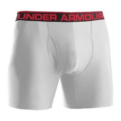"Under Armour 1277238 Men's White O-Series 6"" Boxerjock Briefs - Size Medium"