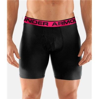 "Under Armour 1277238 Men's Black O-Series 6"" Boxerjock Briefs - Size X-Large"