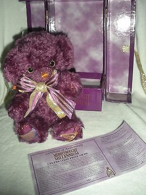 Merrythought Millennium Deep Purple Mohair Jointed Bear Limited Ed #481/2000 New