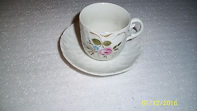 Raised Sea Shell  Design Tea Cup with Floral Design - Demitasse made in Germany
