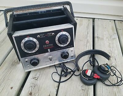 Vintage ZENITH Hearing Aid Sales Corp ZA-110A Portable Audiometer