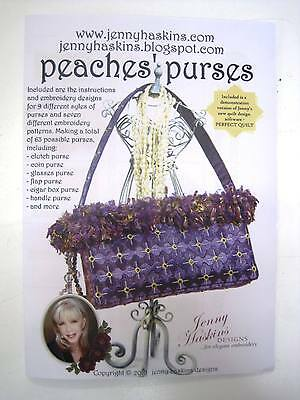 Sewing Machine Embroidery CD - Peaches' Purses by Jenny Haskins designs