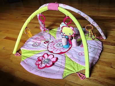 Bright Starts Pretty in Pink Giggle Garden Activity Gym Exercise Baby Infant