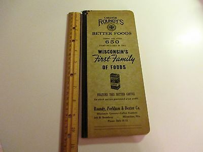vintage Roundy's grocery store order book
