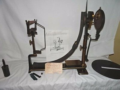 ANTIQUE McHardy Opthalmic Perimeter Field of Vision Mapping INSTRUMENT Wood box