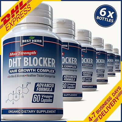 Dht Blocker Hair Loss Support Capsules Pills Baldness Cure Growth Receding Mens