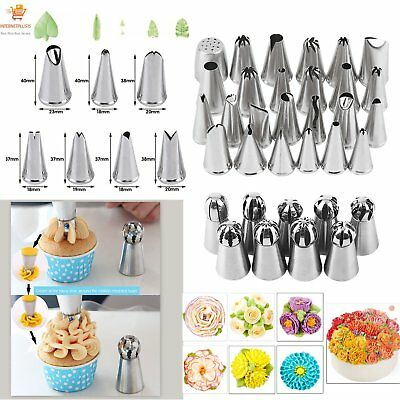 7/9/15/24/32/52Pcs DIY Russian Icing Piping Nozzle Cake Flower Decor Tips DF
