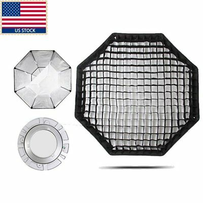 "US GODOX 47"" 120cm Octagon Honeycomb Grid Softbox + Bowen Mount F Photo Studio"