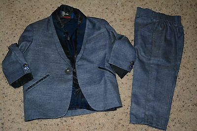 Boys Indian Blazer suit in blue Size-1 to 2 years