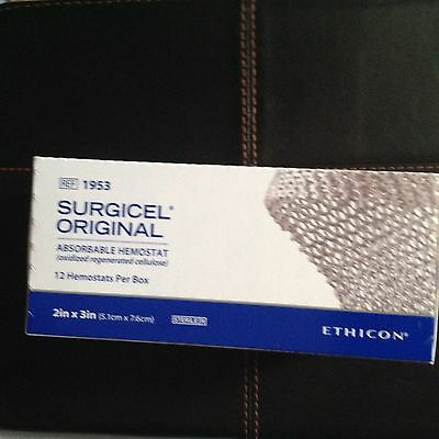 Ethicon Surgicel absorbable hemostat 1953 2x3 news unopened box of 12