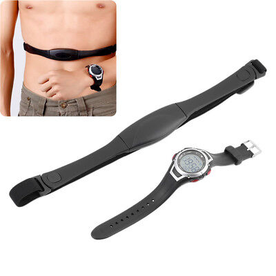 Heart Rate Monitor Wireless Waterproof Fitness Sport Track Watch+Chest Belt Band
