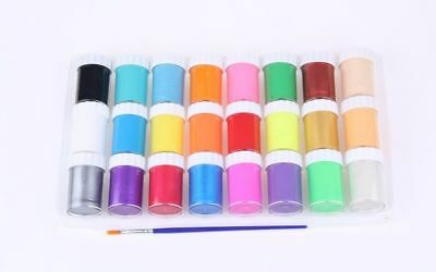 KIDS Face Paint 24 Classic Colors Water Based Washable Non-toxic