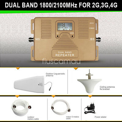 ATNJ Dual Band 1800/2100mhz 2G 3G 4G Mobile Signal Booster Repeater Amplifie