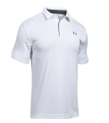 Under Armour 12901401003X Men's White Tech Polo 3XL