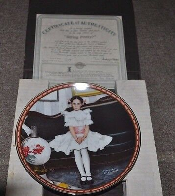 """""""Sitting Pretty"""" Norman Rockwell Collector Plate"""