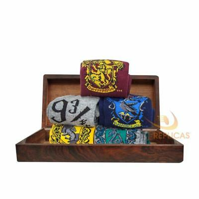 Harry Potter : SET OF 5 SOCKS from Cinereplicas - HOUSE CRESTS & PLATFORM 9 3/4