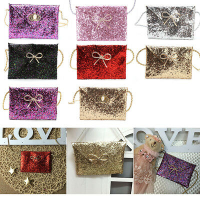 Lovely Shoulder Bags Sequins Money Holder Handbag Gift Girls Kids Baby Children