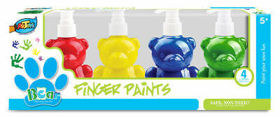 4x200ml Cute Bottle Finger Paint Washable Non-toxic Drawing