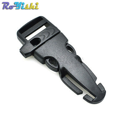 "3/4""Plastic Side Release Outdoor Emergency Survival Camp Whistle Buckles"