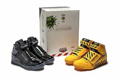 7b33e95e624032 REEBOK ALIEN STOMPER Pack Black Yellow 2 Pairs CN2182 BS8882 Size 11 ...