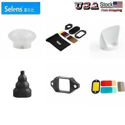 Selens Universal Magnetic Flash Modifier Gel Filter Diffuser Bounce US Shipping