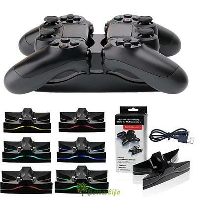 Dual Charging Stand LED Charger Station Dock Video Game Parts for PS4 Controller