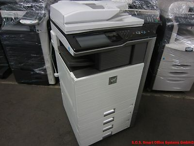 Sharp MX-5000N Kopierer Drucker Scanner Finisher Hefter Locher PostScript