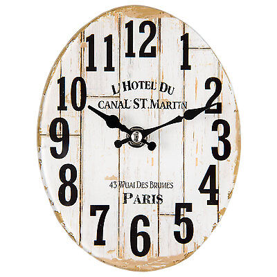 CLAYRE & EEF Vintage Wall clock Nostalgic Country house style Paris Shabby 17cm