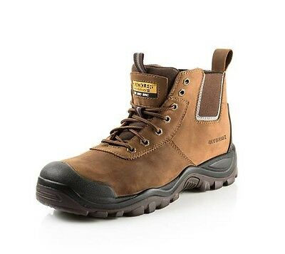 15e355e9830 BUCKLER SAFETY WORK Boots (Various Styles) Men's Anti-Scuff Steel ...