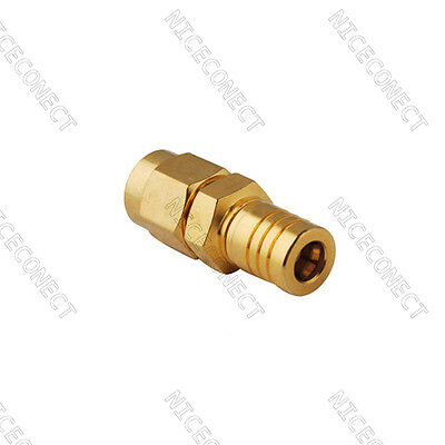 2X SMB female jack to SMA male plug straight RF adapter coaxial connector