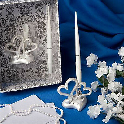 Wedding Reception Guest Book Signing Pen Silver Pen Holder Stand wedding Decor