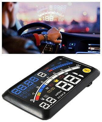 Universal Car Truck HUD Head Up Display OBD2 Speedometer Projector Speed Warning
