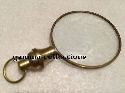 Brass Magnifying Glass Round Magnifier Pendant / Keychain  GAME OF THRONES