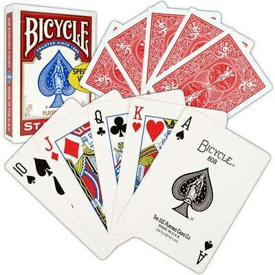 Bicycle Playing Cards Red Deck Casino Poker Fun Casino Family Games Snap UK