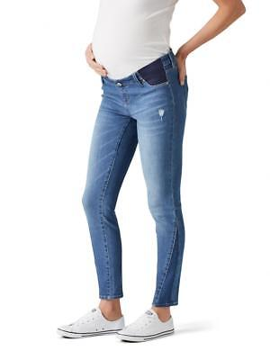 NEW Jeanswest NEVE MATERNITY SPLICED HEM INSERT SKINNY 7/8 Jeans