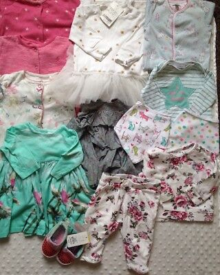 Baby Girls 0-3 Up To 3 Months Clothes Bundle Next Ted Baker Some Bnwt